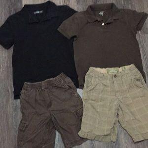 2 Boys Golf Shirts/2 Shorts